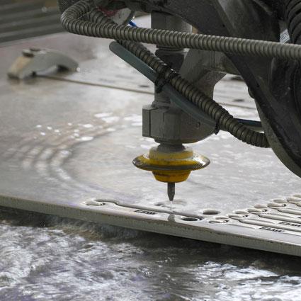 CNC Waterjet cutting at Tradeweld