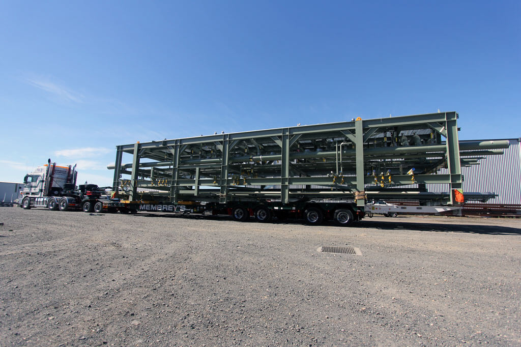 On the truck- the Gas Module for Orbost Gas Plant at Tradeweld