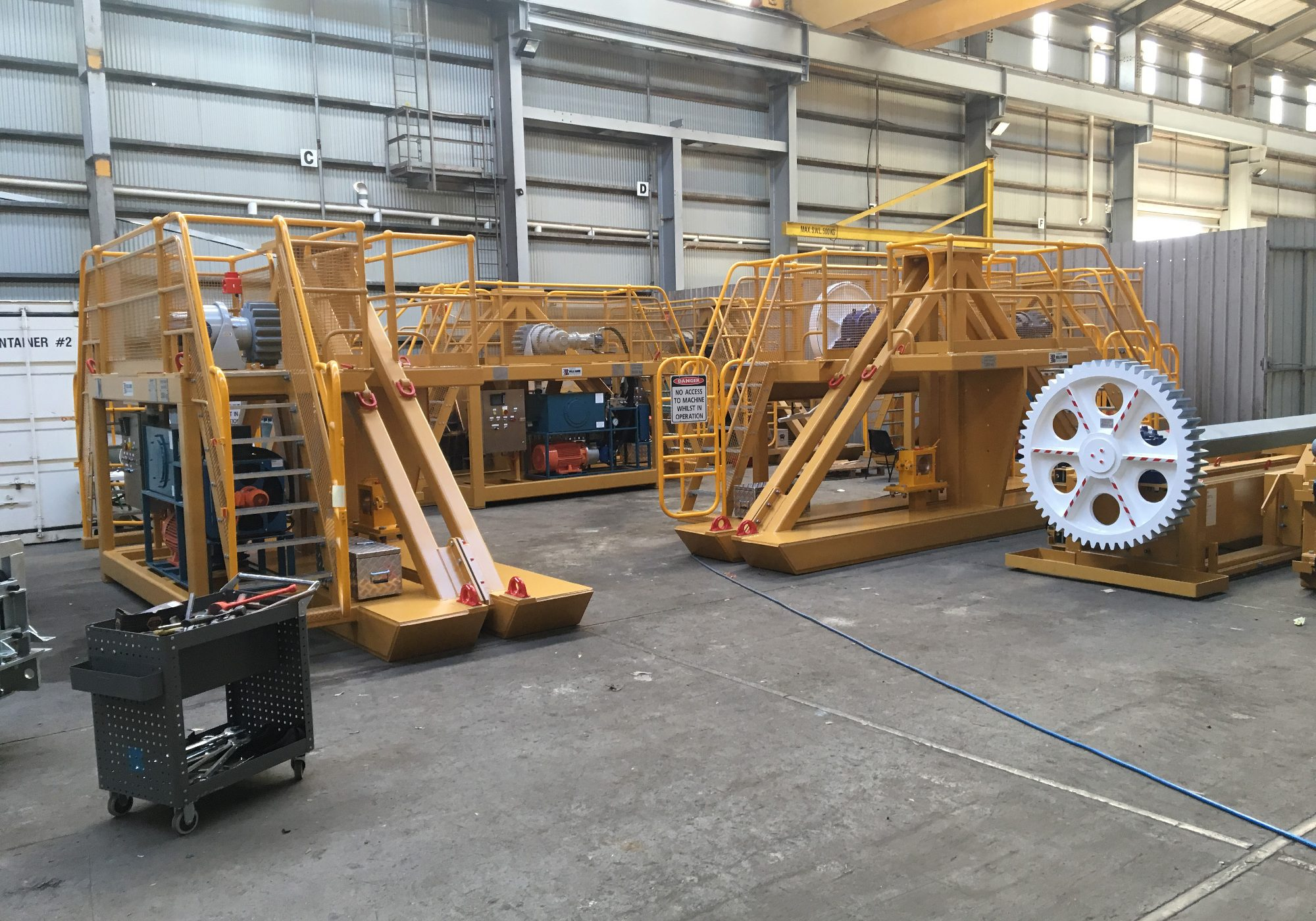 Tradeweld conveyor belt project photo